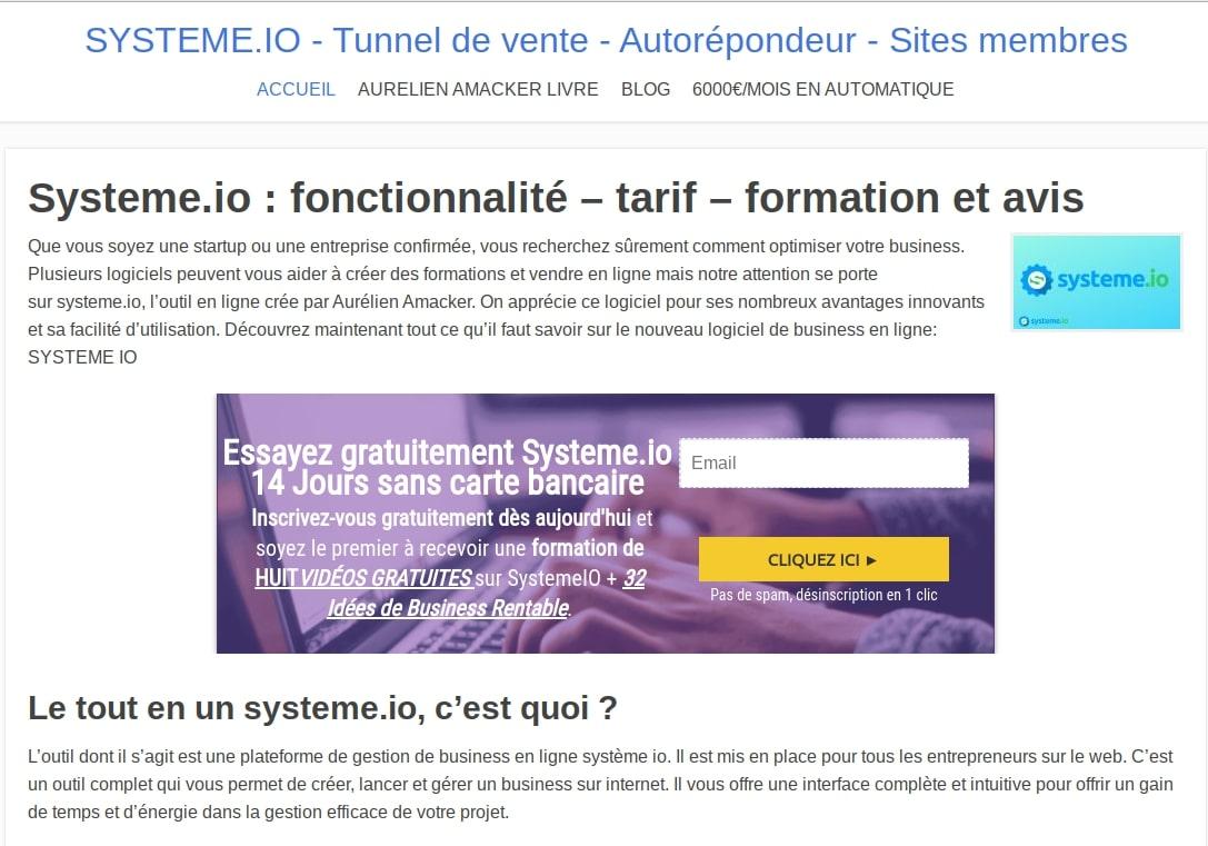 Système de conseil io, tunnel de vente - emails marketing illimités